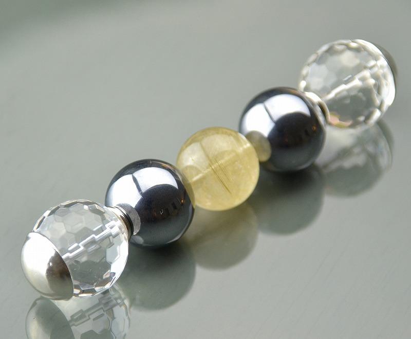 R1808022 テラヘルツ・ゴールドルチルクォーツ・カット水晶-1