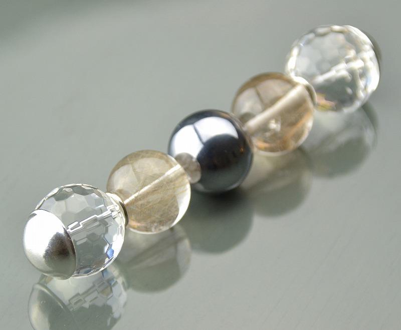 R1808026 テラヘルツ・ゴールド/ブロンズルチルクォーツ・カット水晶-1