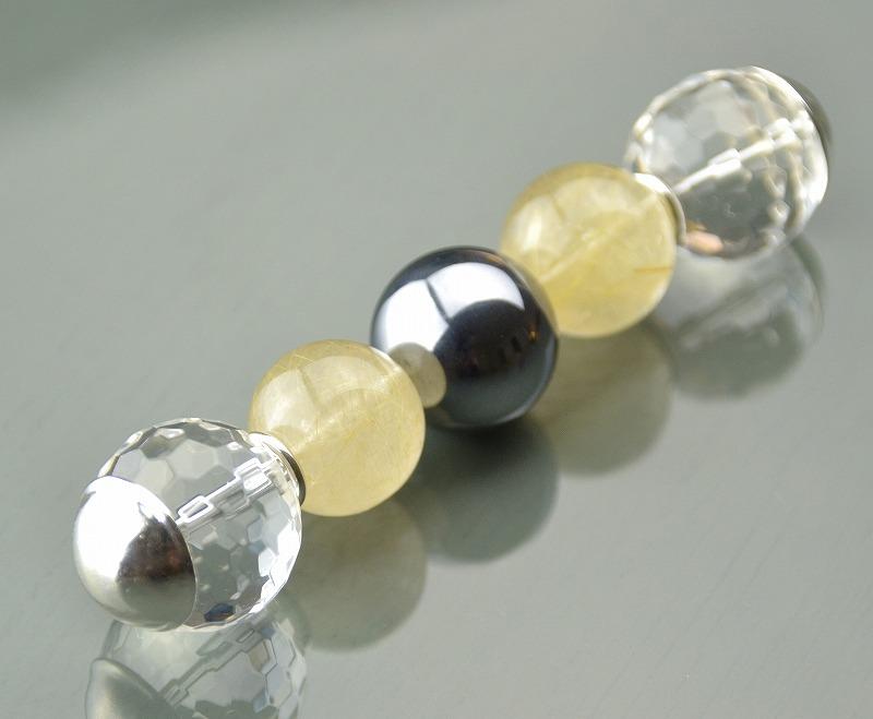 R1808031 テラヘルツ・ゴールドルチルクォーツ・カット水晶-1
