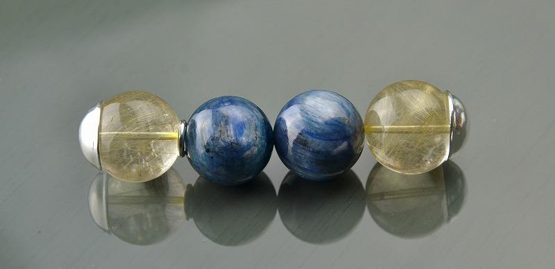 R1808042 ゴールドルチルクォーツ・ブルーカイヤナイト