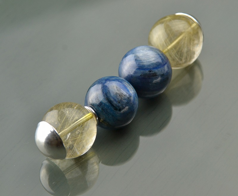 R1808042 ゴールドルチルクォーツ・ブルーカイヤナイト-1