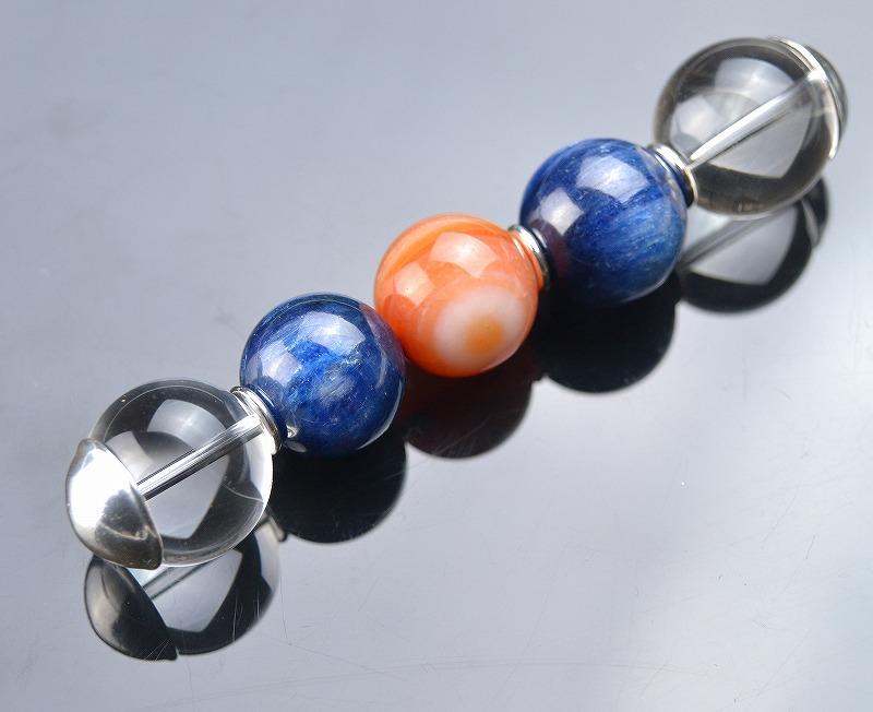 R1902010 ブルーカイヤナイト・水晶・レッドサードニクス-1
